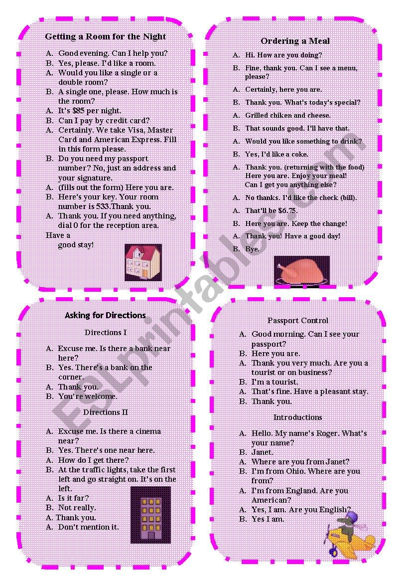 Role Play 2 worksheet
