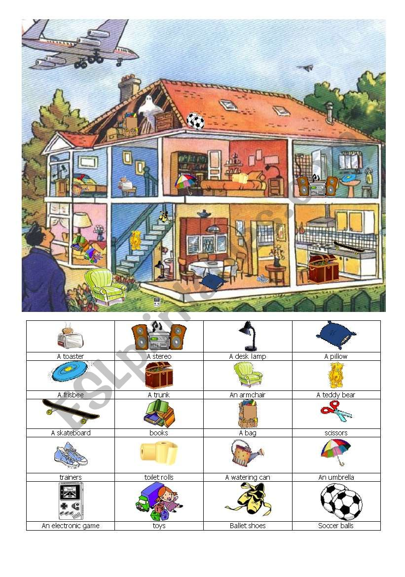 What a mess ! worksheet