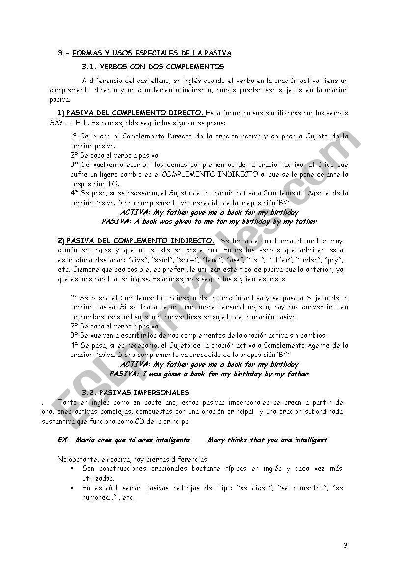 Passive Voice Esl Worksheet By Mercedesjv