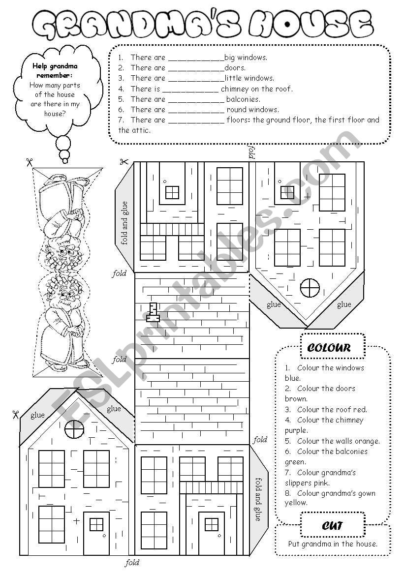 Grandma´s House worksheet