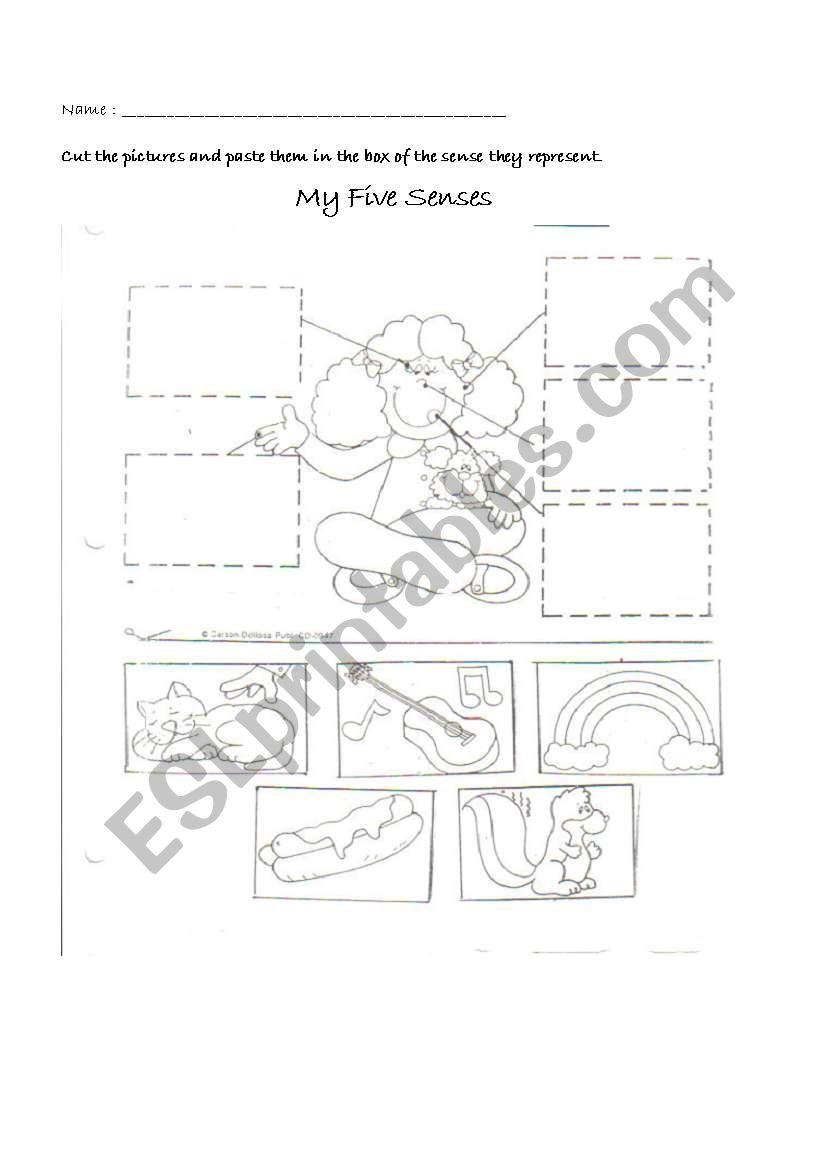 My Five Senses Esl Worksheet By Martik