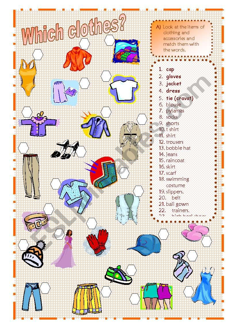 Which clothes? worksheet