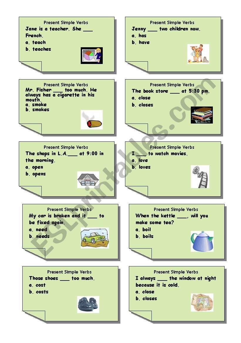 Simple choose 2  worksheet