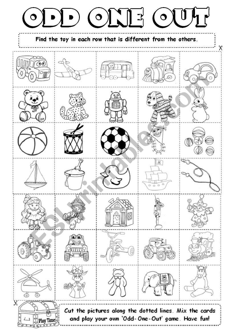 Odd-One-Out (4/6) worksheet