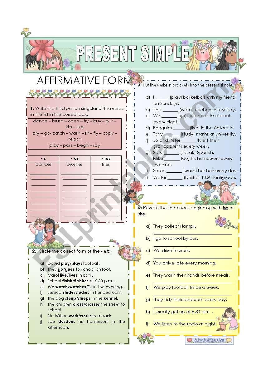 Present Simple - affirmative form