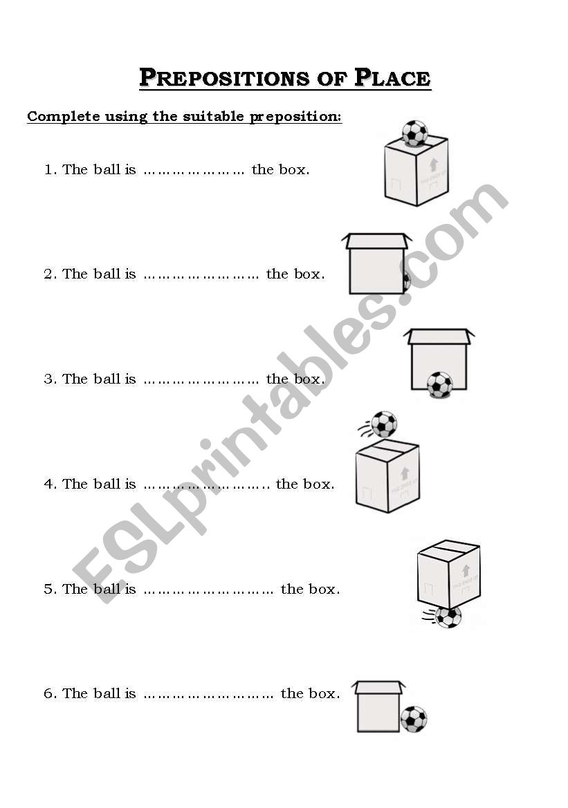 prepositions of place esl worksheet by nordynour. Black Bedroom Furniture Sets. Home Design Ideas