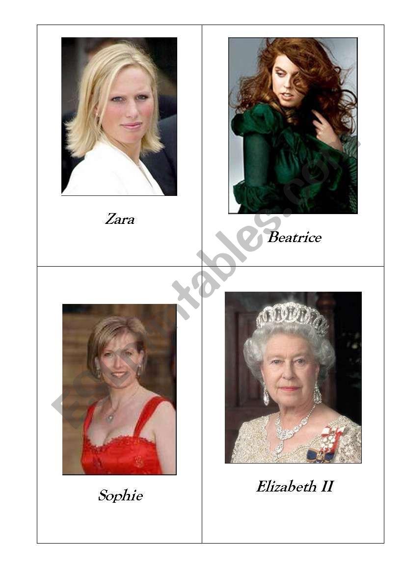 The Royal Family - part I worksheet