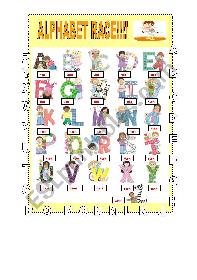 learning the alphabet!!! (3 pages)