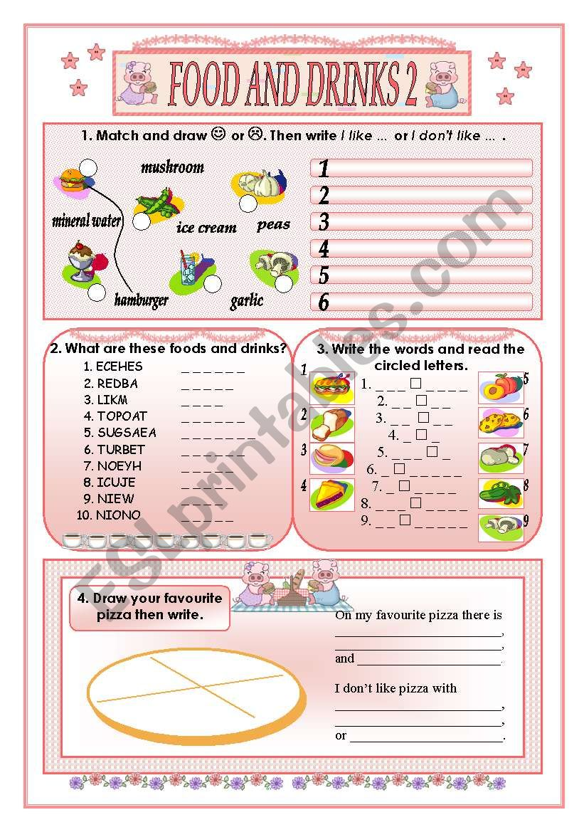 Food and drinks 2(part two) worksheet