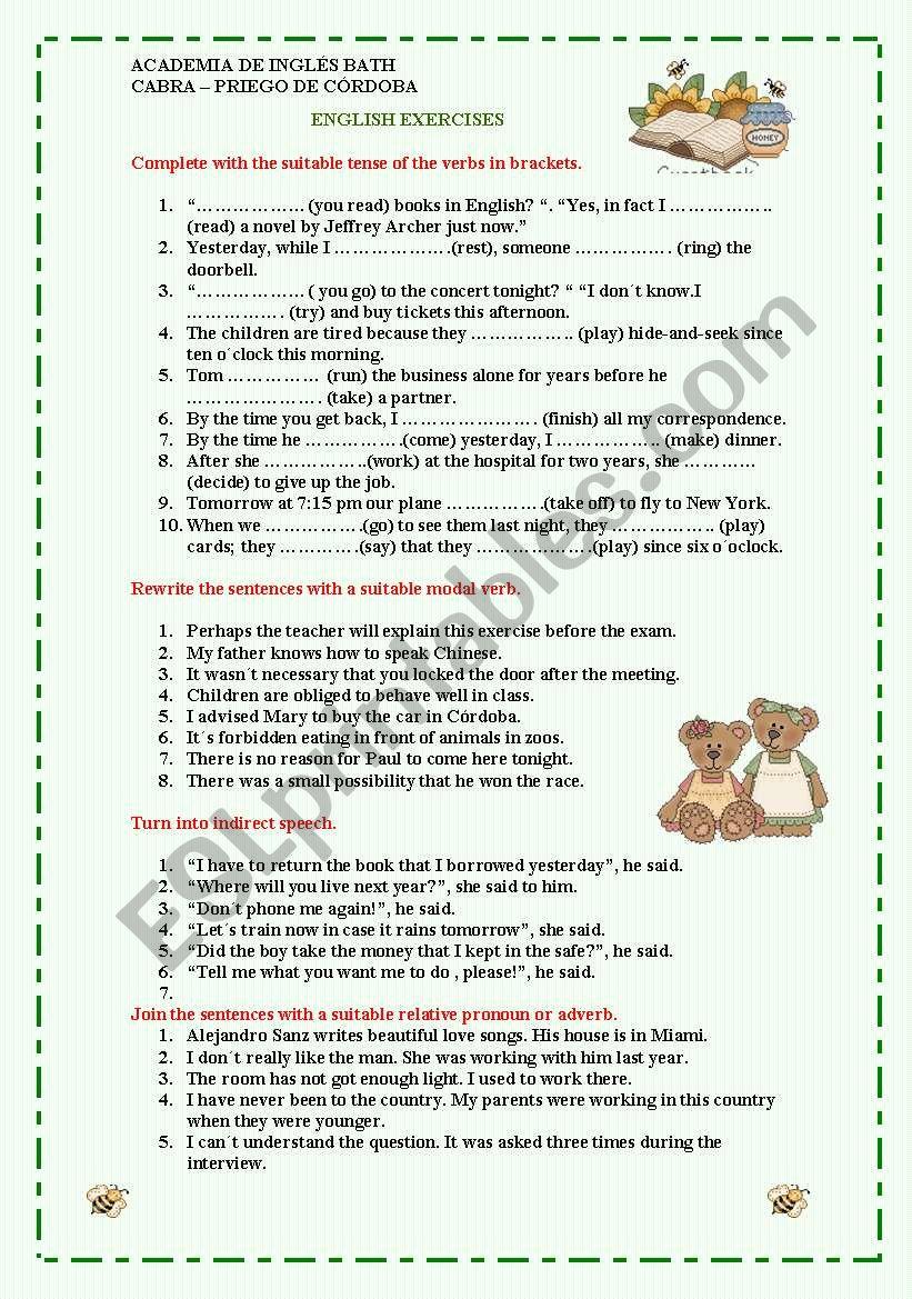 upper intermediate grammar revision