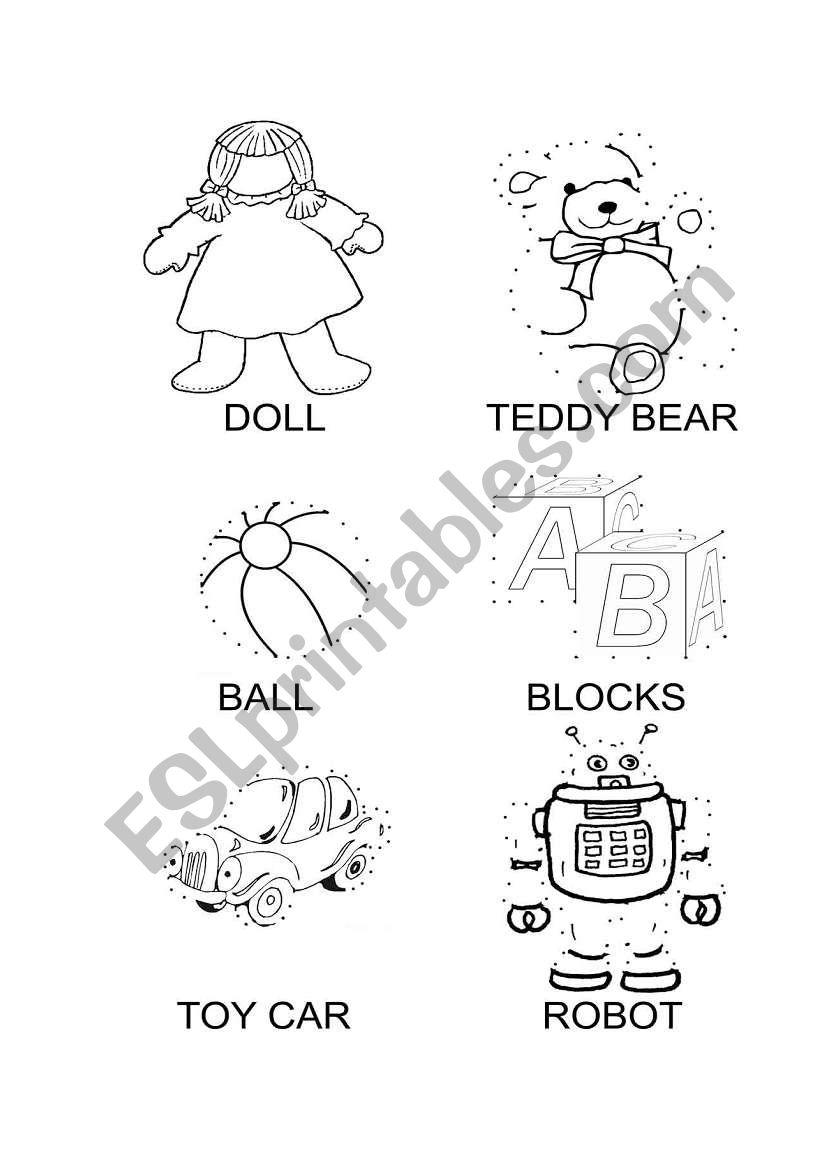 My toys dot-to-dot worksheet