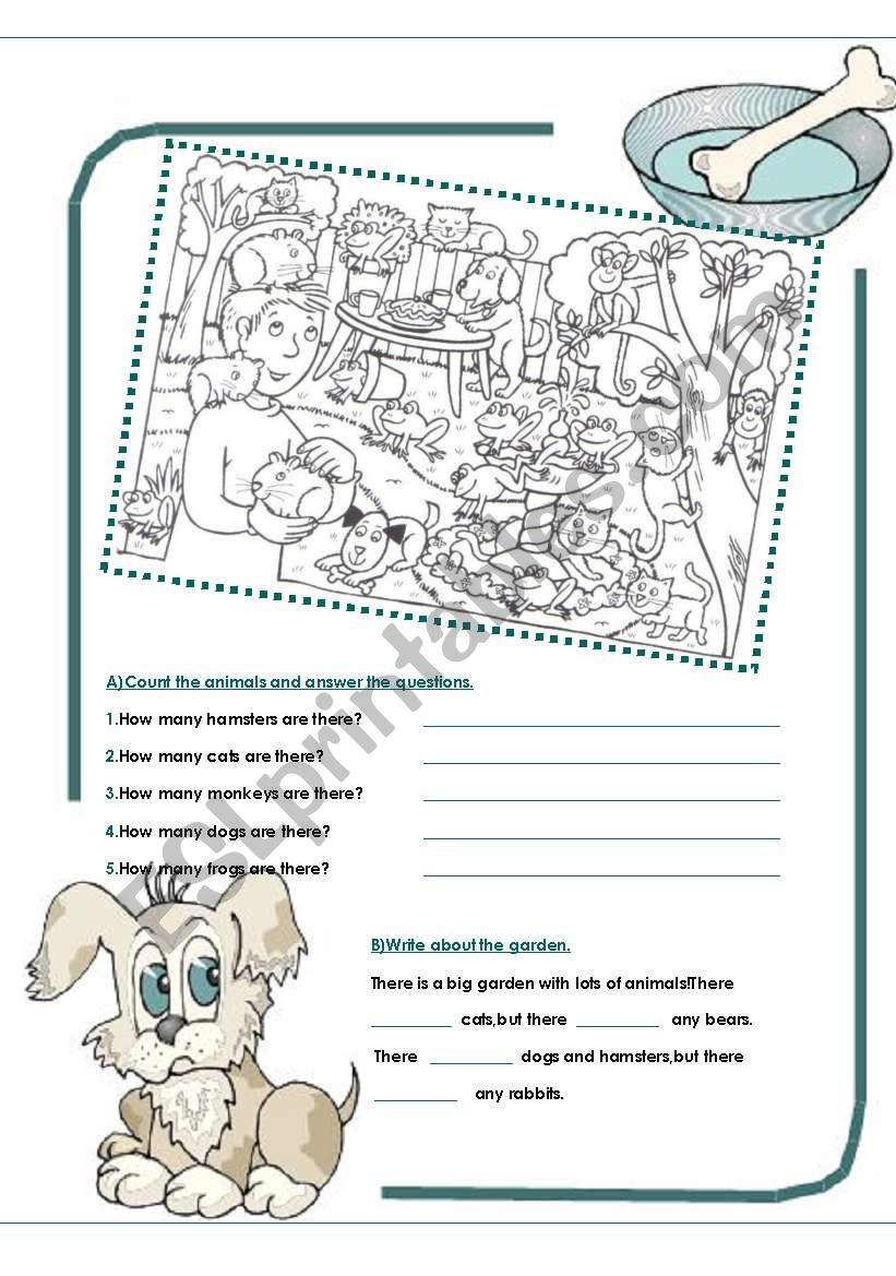 ANIMALS / THERE ARE worksheet