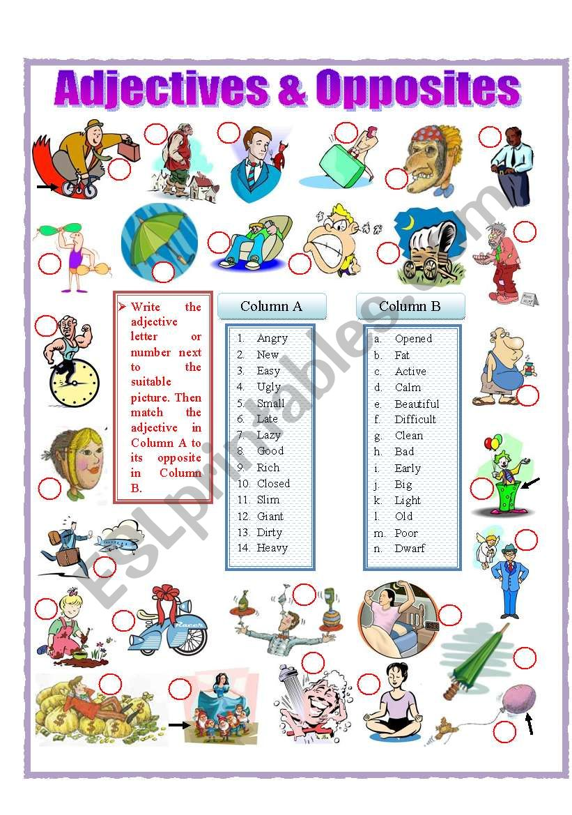 Adjectives and Opposites (part 1)