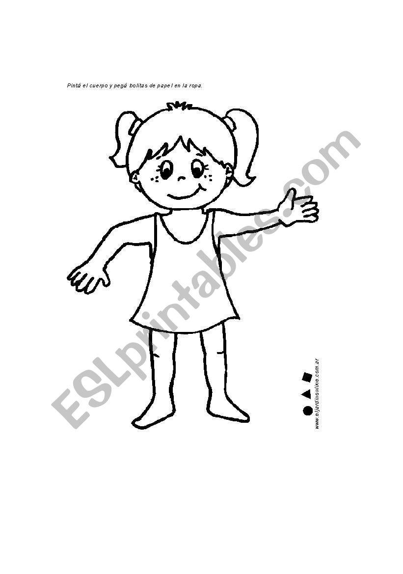 pert of body worksheet