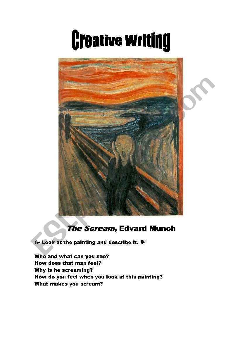 Creative Writing - The Scream by Edvard Munch - ESL