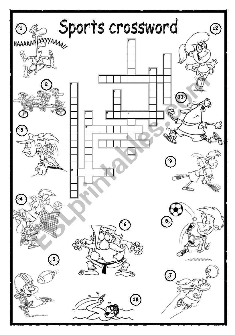 Sports Crossword 1 worksheet