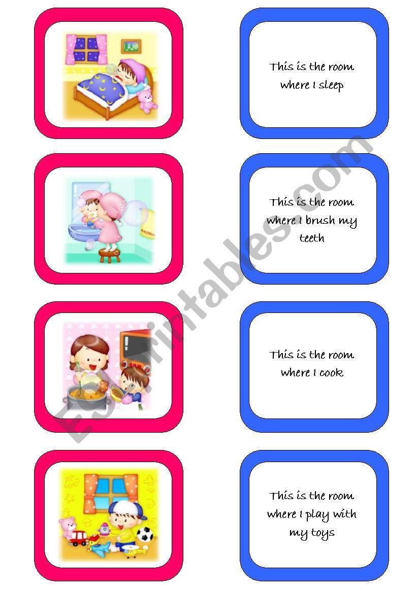 Memory card game (1/2) worksheet
