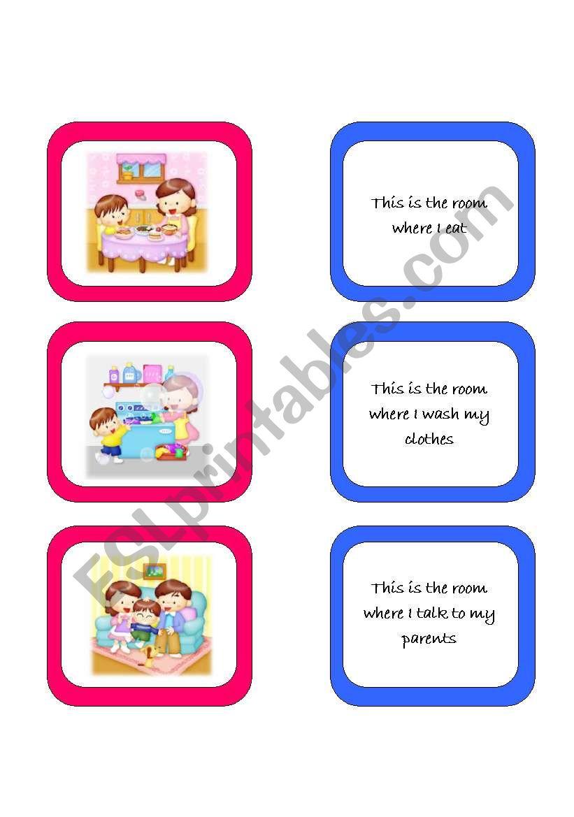 Memory card game (2/2) worksheet