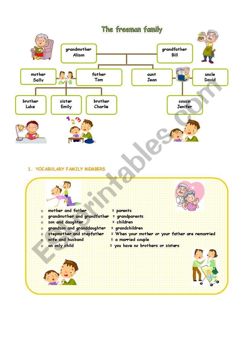 family 1 worksheet