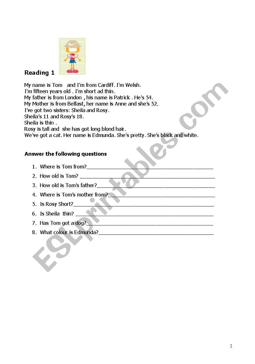 Read and answer the following questions (2 readings e 2 questionnaires). Two pages.
