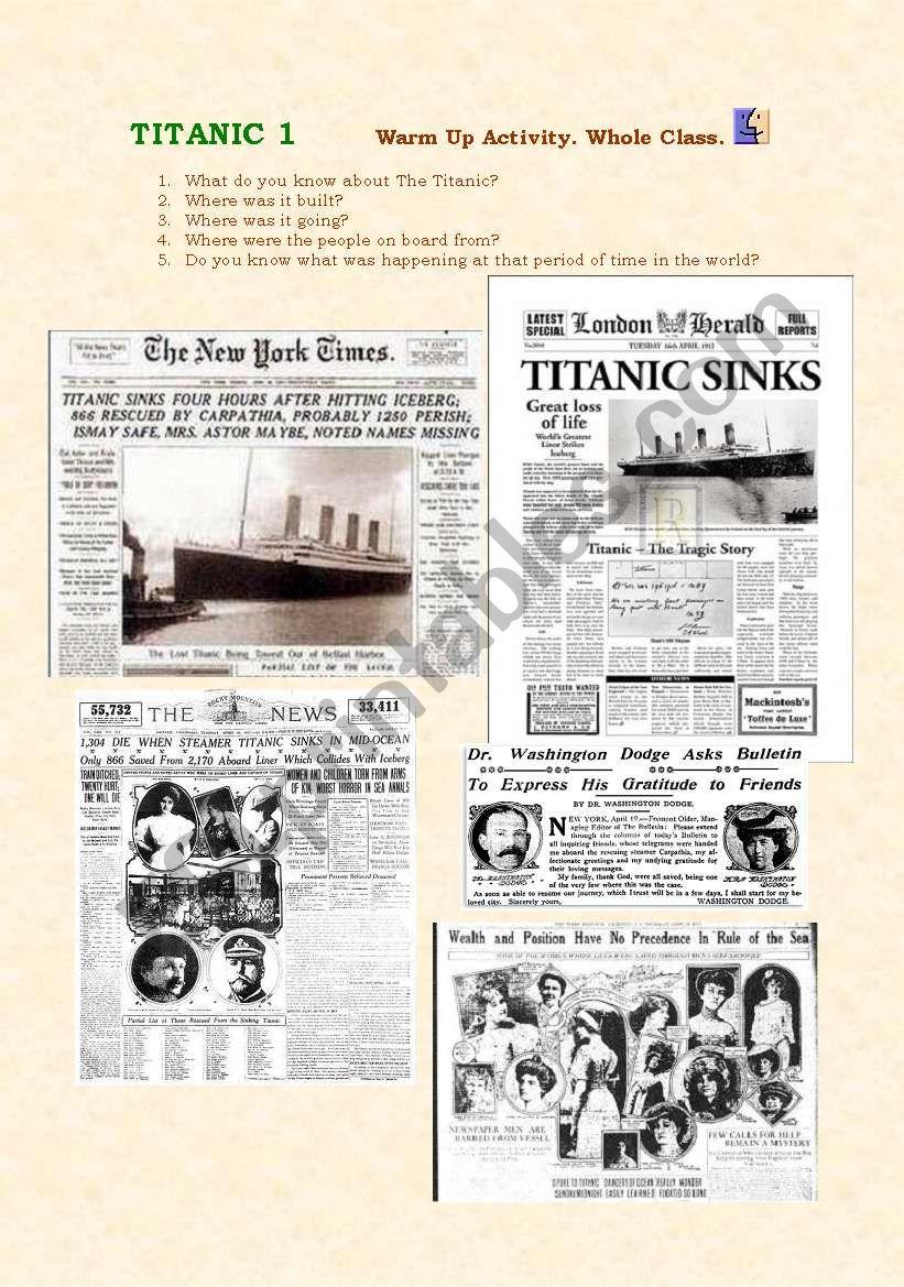 TITANIC 1 worksheet