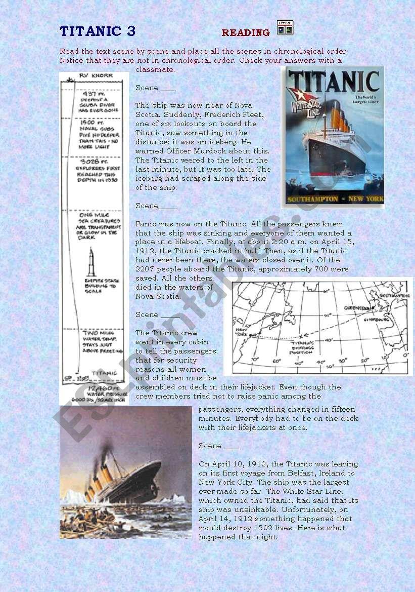 TITANIC 3 worksheet