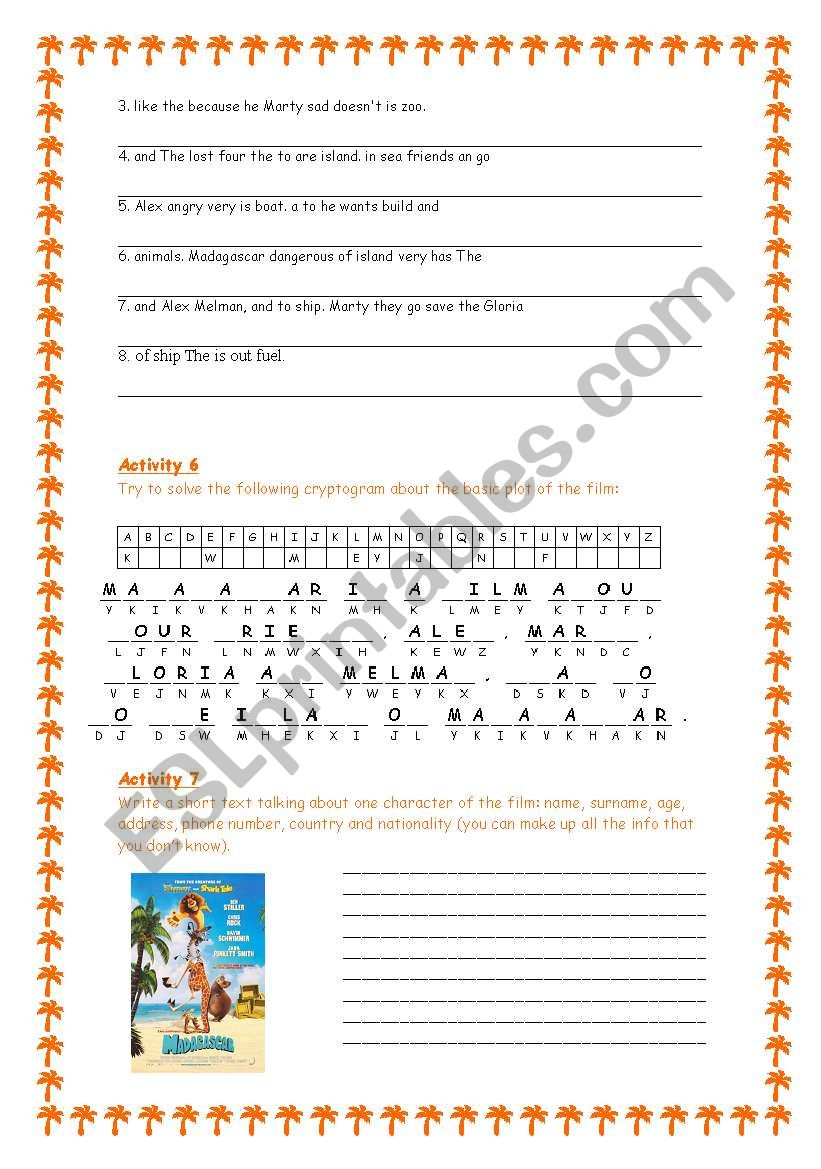 Madagascar - The Movie 3/3 worksheet