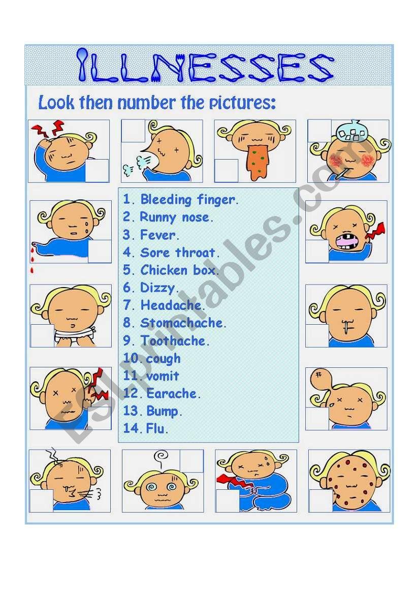 illnessess part 1 worksheet