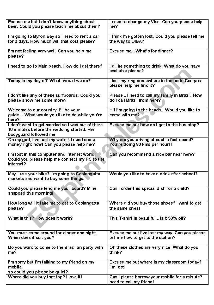 Conversation starters - ESL worksheet by renshaw