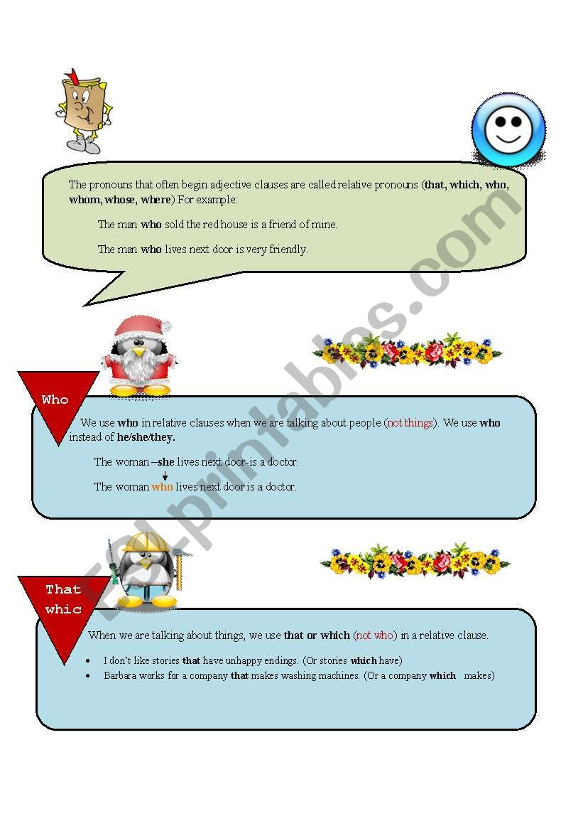 Adjective Clause (2) worksheet