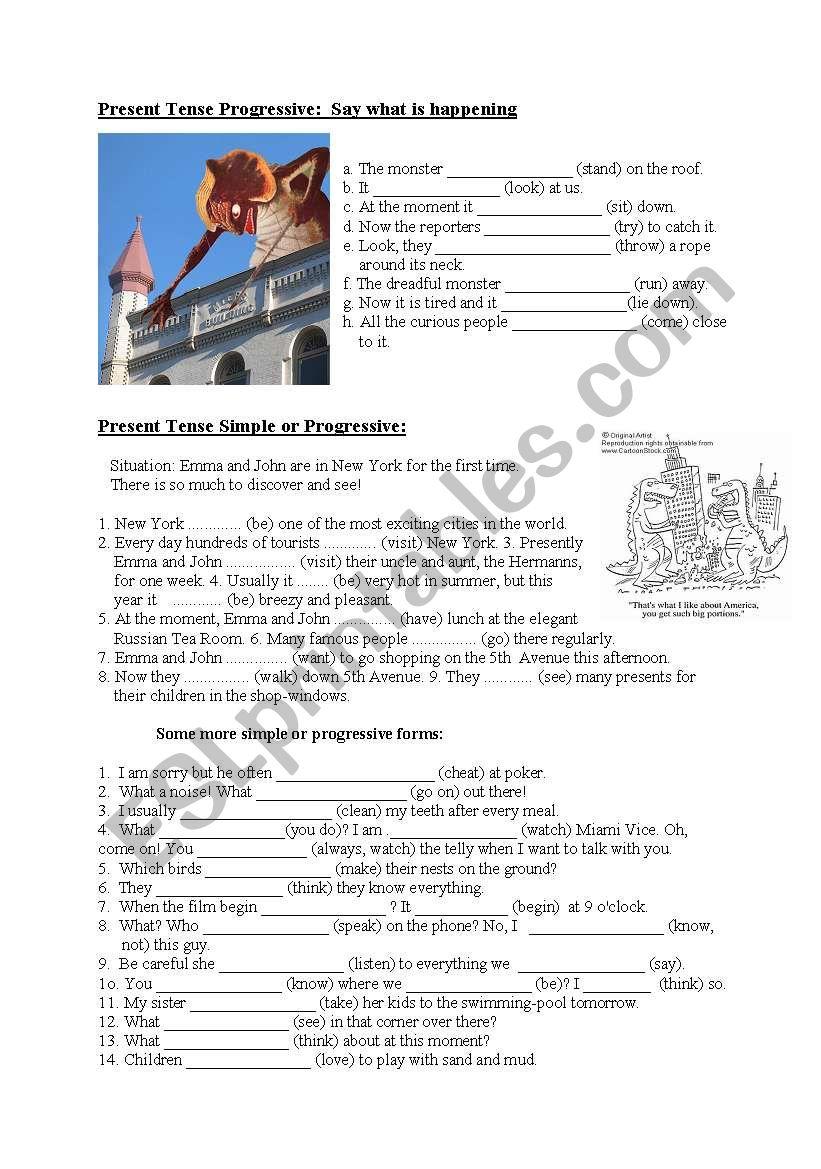Present Tenses worksheet