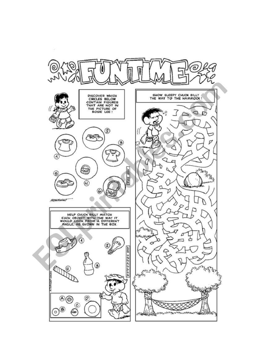 fun activities! - ESL worksheet by veve25