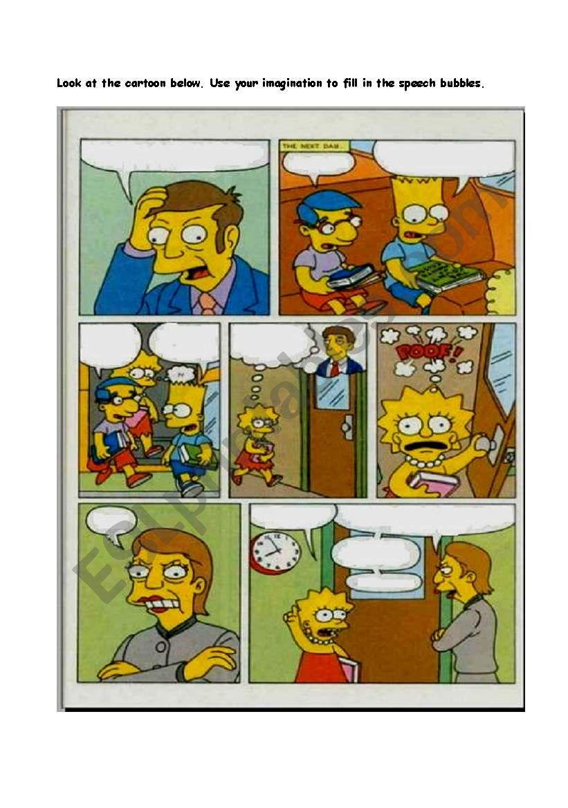 Simpsons Comic (1 of 2) worksheet
