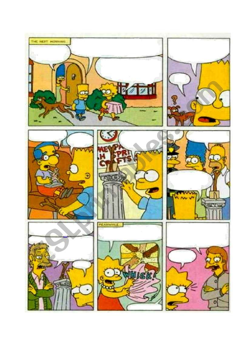 Simpsons comic (2 of 2) worksheet