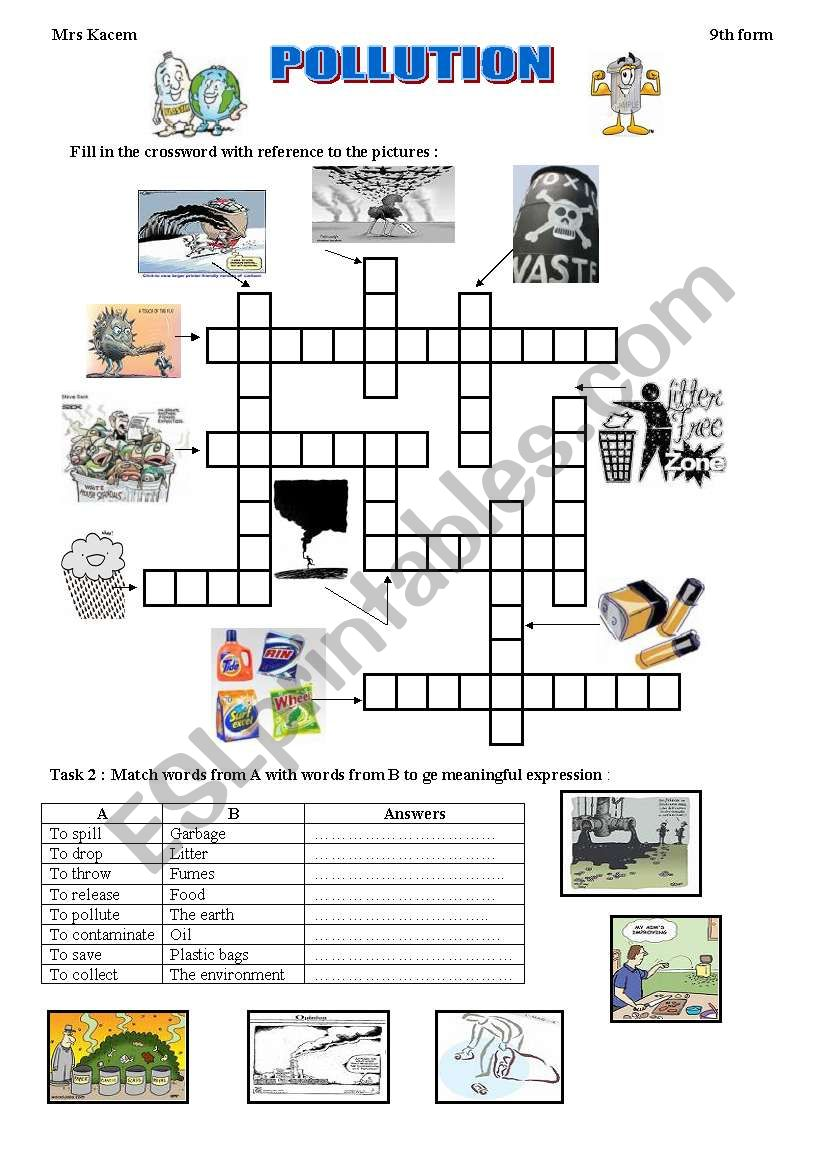 Worksheets Pollution Worksheets pollution esl worksheet by mouka worksheet