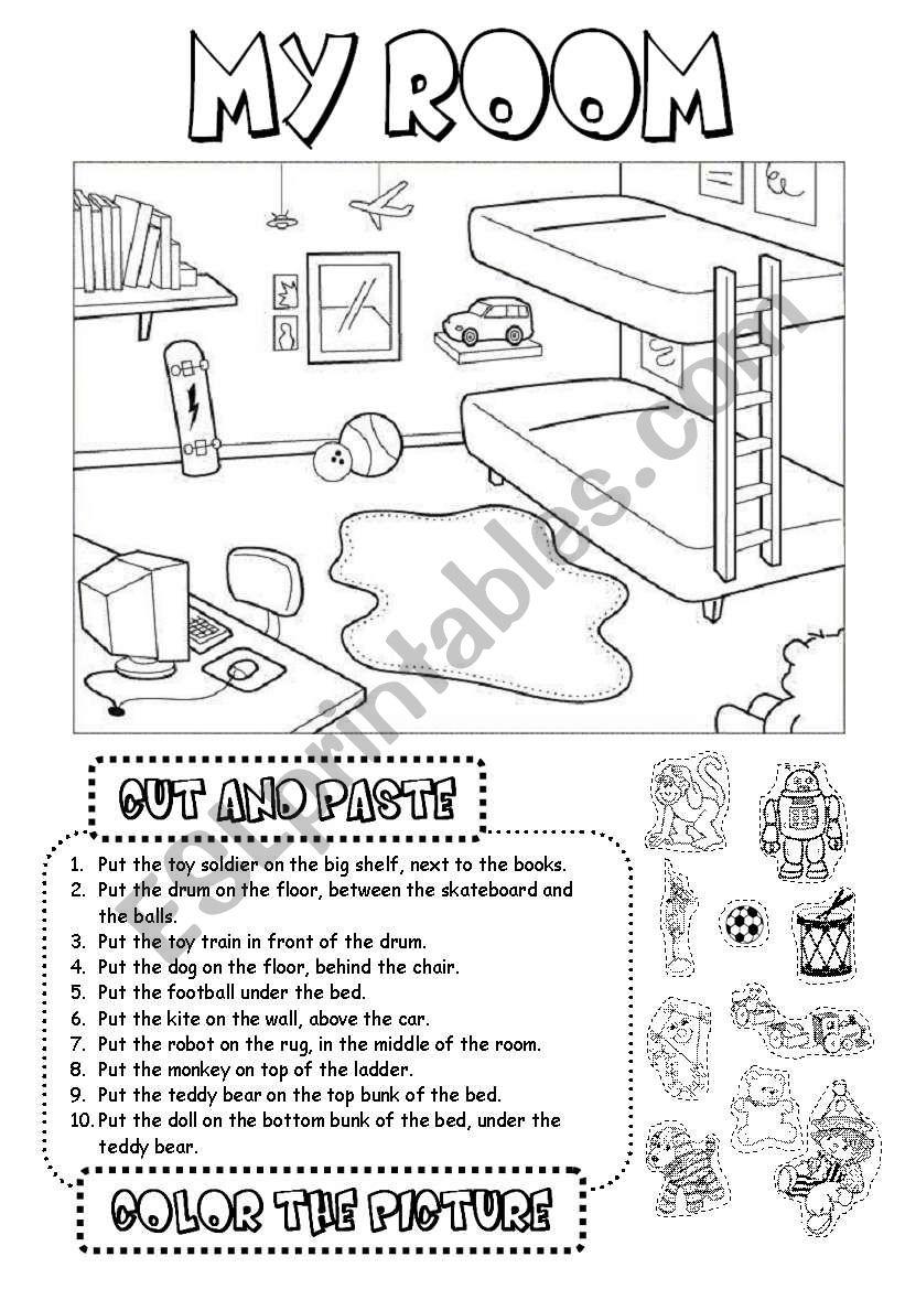 My room (1) worksheet