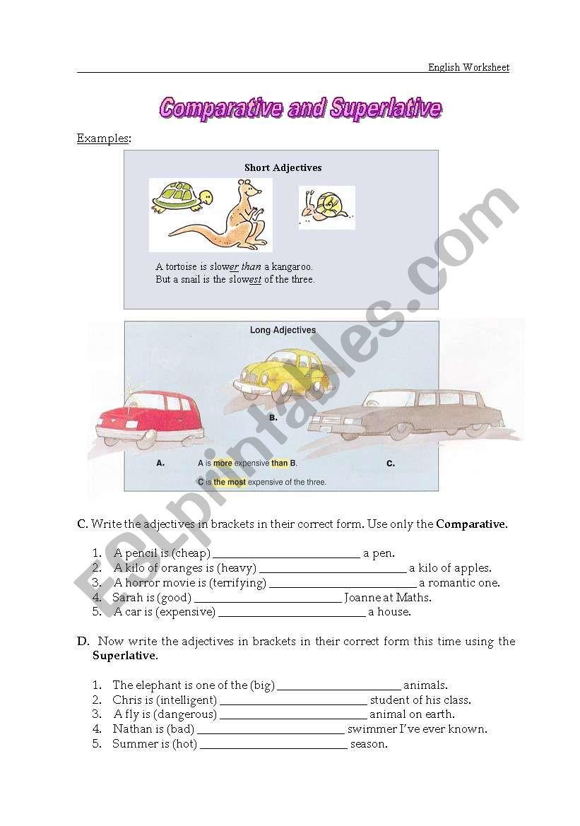 degrees of adjectives3 worksheet
