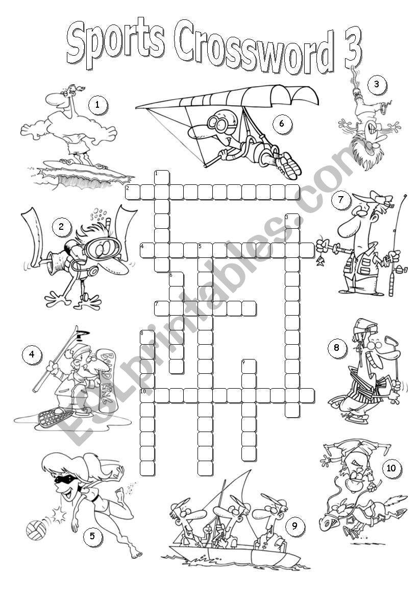 Sports Crossword 3 worksheet
