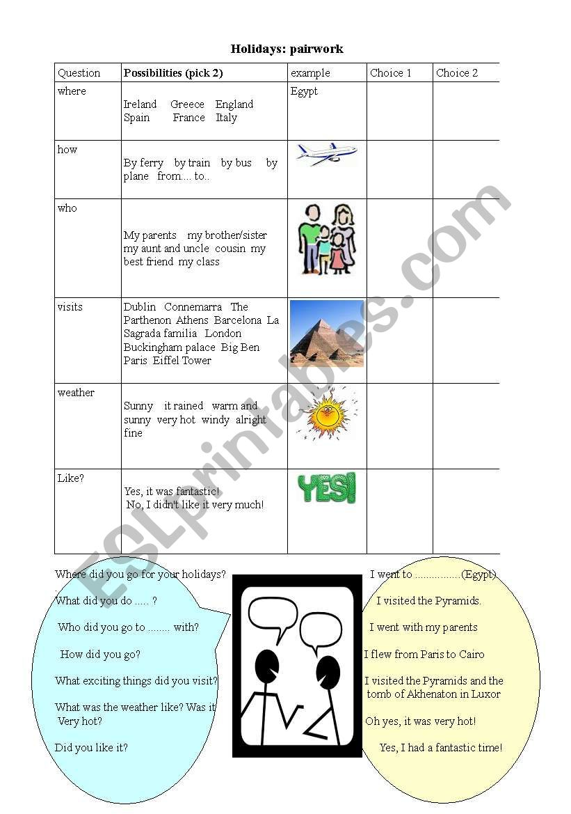 holidays: simple past worksheet