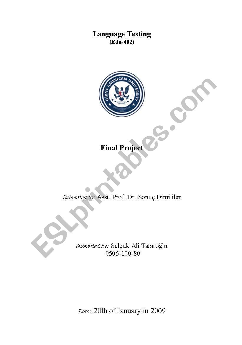 Proficiency Testing Exam-Report based on reading, writing, listening, vocabulary and grammar...