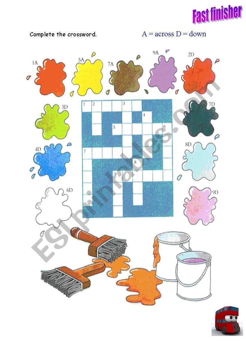 Colours Crosswords worksheet