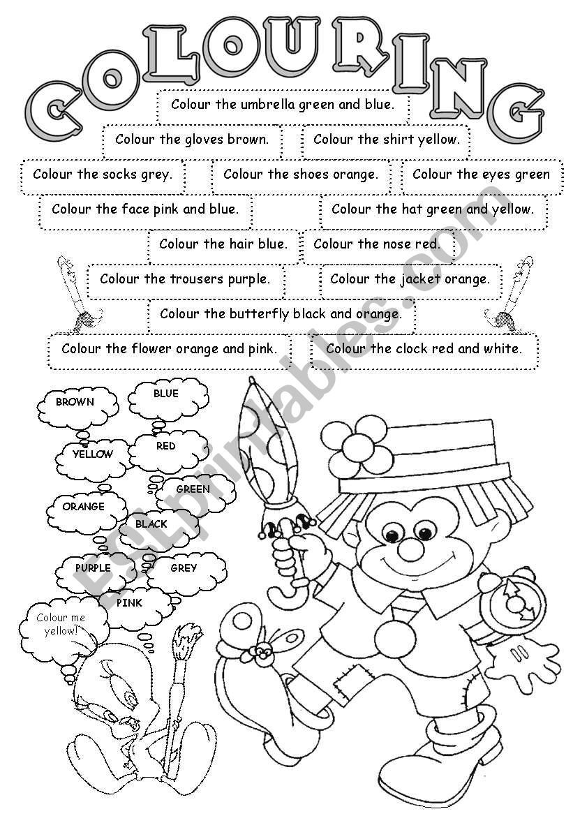 Colouring worksheet