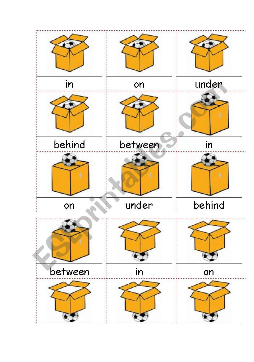 Preposition In Learn In Marathi All Complate: English Worksheets: IN ON UNDER, BEHIND, BETWEEN