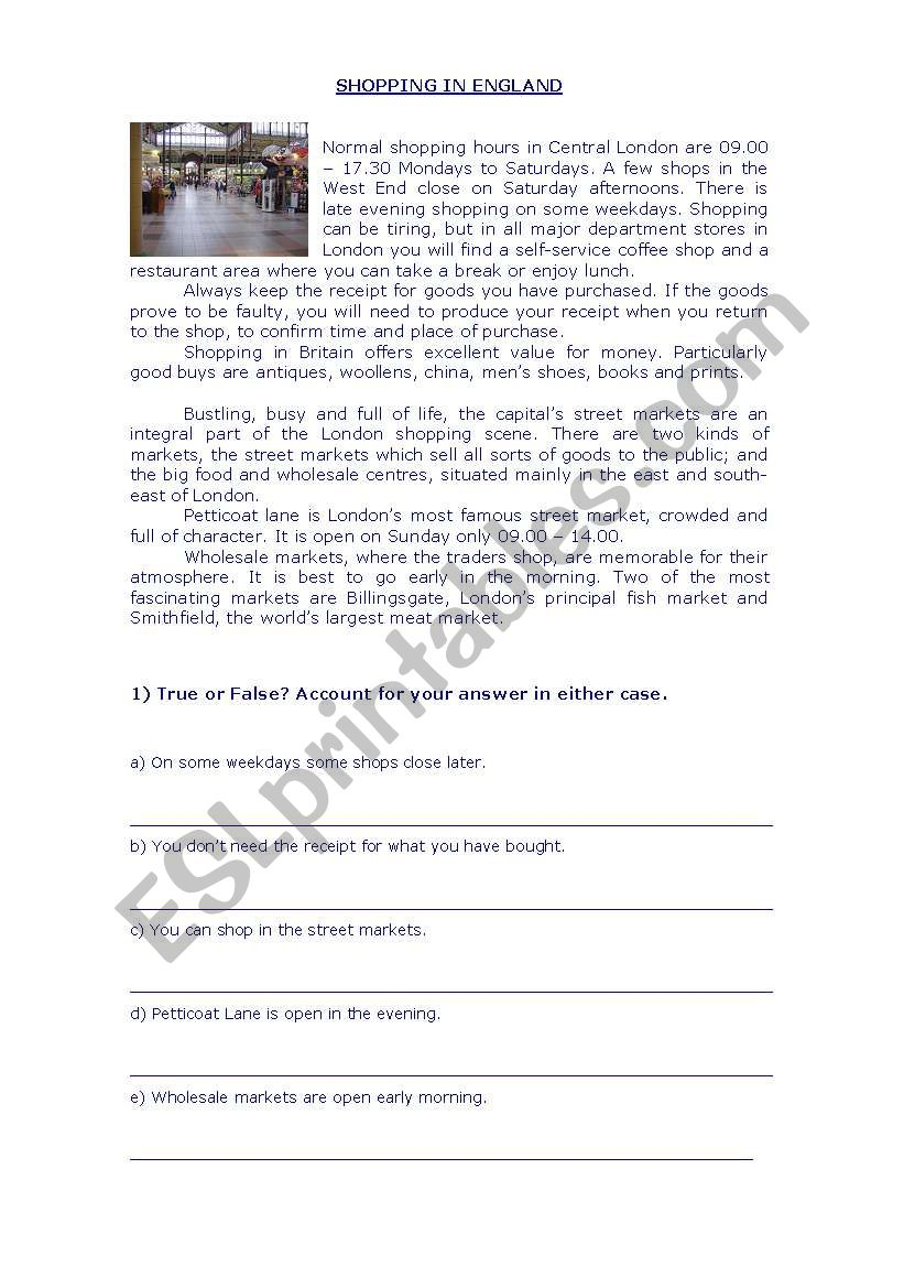 - Reading Comprehension And Vocabulary Worksheet - ESL Worksheet By