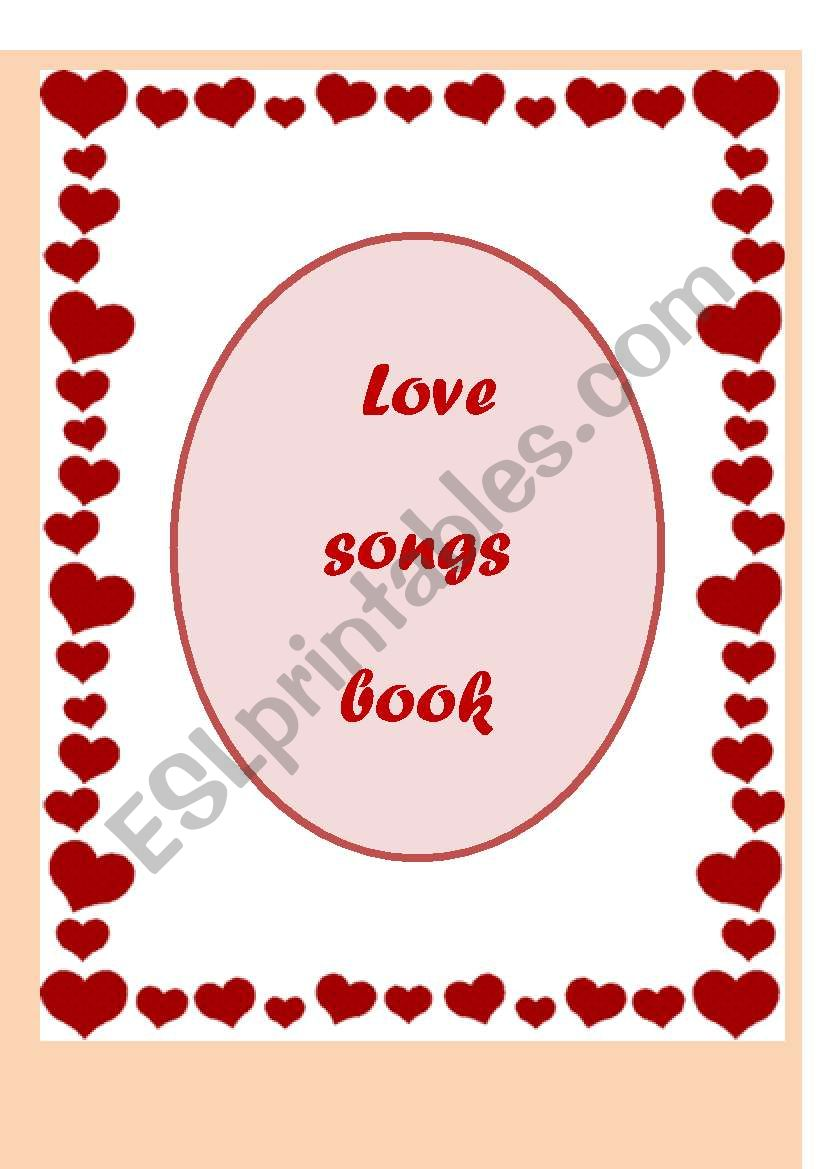 love songs book (12 pages) worksheet