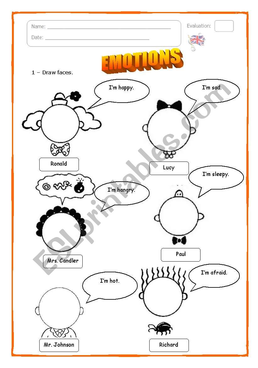 Emotions - ESL worksheet by Catarina_Marques