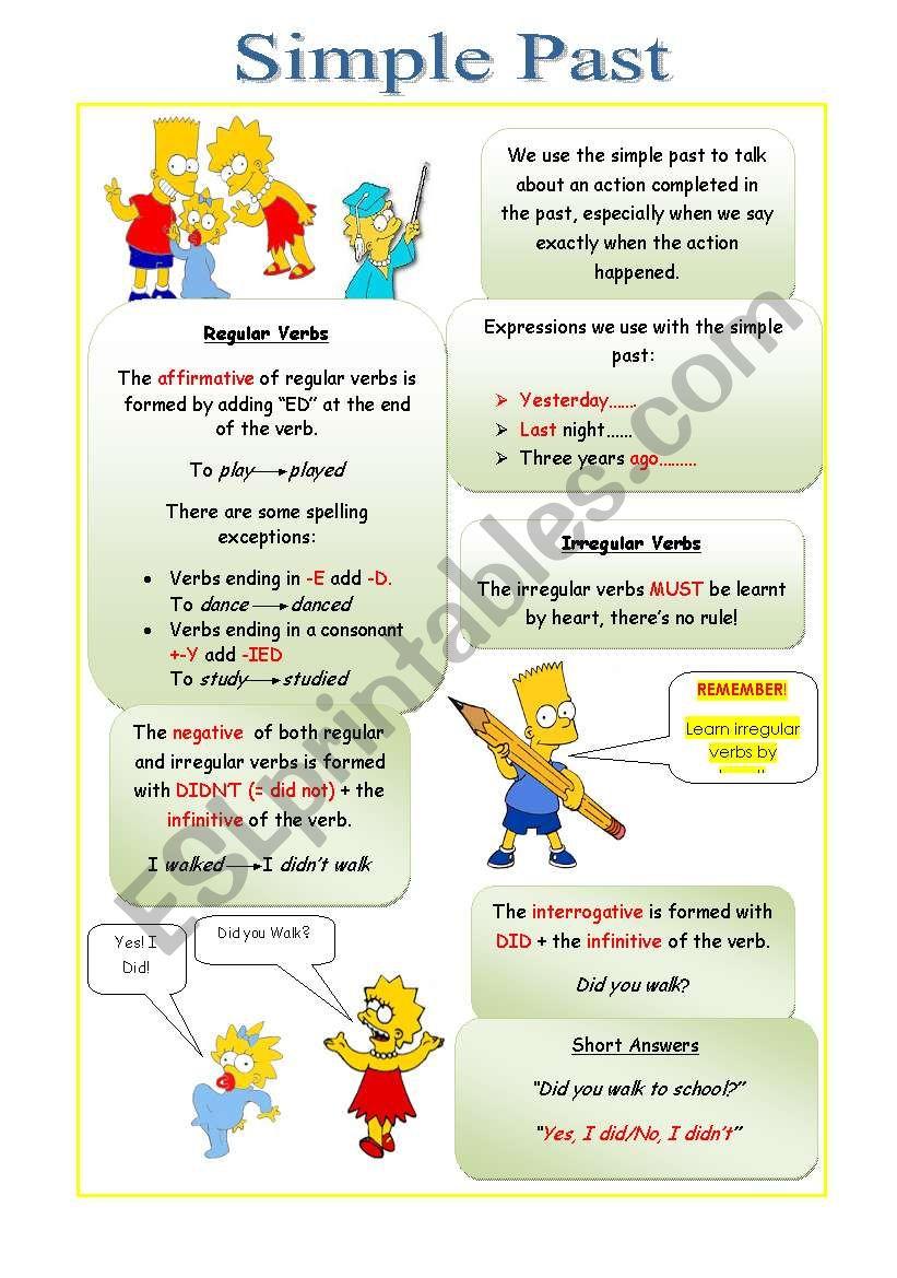 Simple Past worksheet