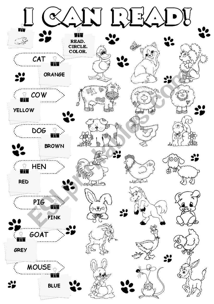 I can read - farm animals (1/5)