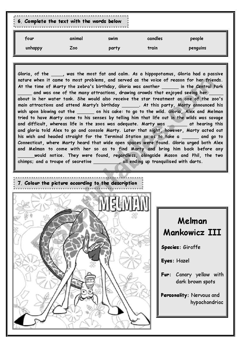 MADAGASCAR - PART 2 (5 pages) worksheet