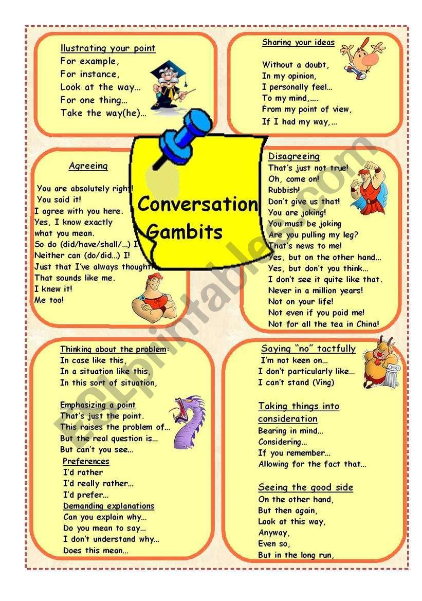 Conversation Gambits 2 worksheet